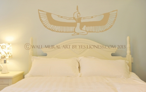 Ma'at bedroom mural art by Yes Lioness fw