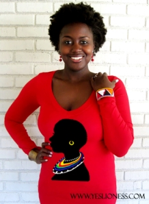 Red Maasai V neck by Yes Lioness