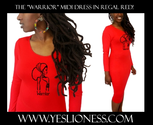 Warrioe Red Dress by Yes Lioness