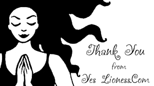 Yes Lioness Thank You card fw