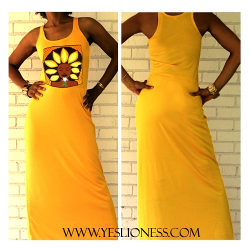 Sunflower Maxi Dress by Yes Lioness
