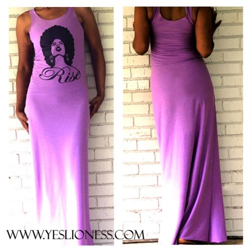 Yes Lioness RISE Maxi Dress Grape Purple