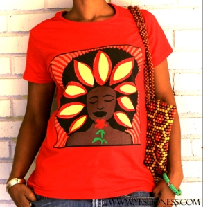 Red SunFlower Tee by www .yeslioness.com