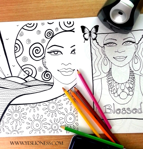 The Empowered Goddess Coloring Book by WWW.YESLIONESS.COM 1